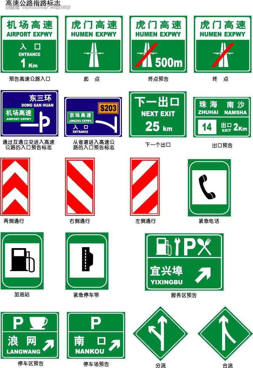 高速公路指路标志