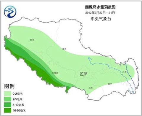 中国降雪量分布图