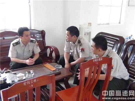 广西高速公路管理局沿海路政执法支队灵山大队与伶俐